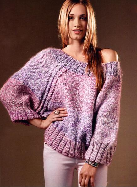 вязаные свитера для девушек фото