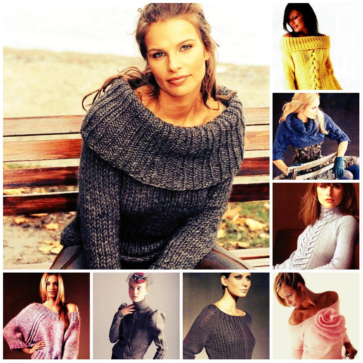 Красивые вязаные свитера для девушек — фото и схемы