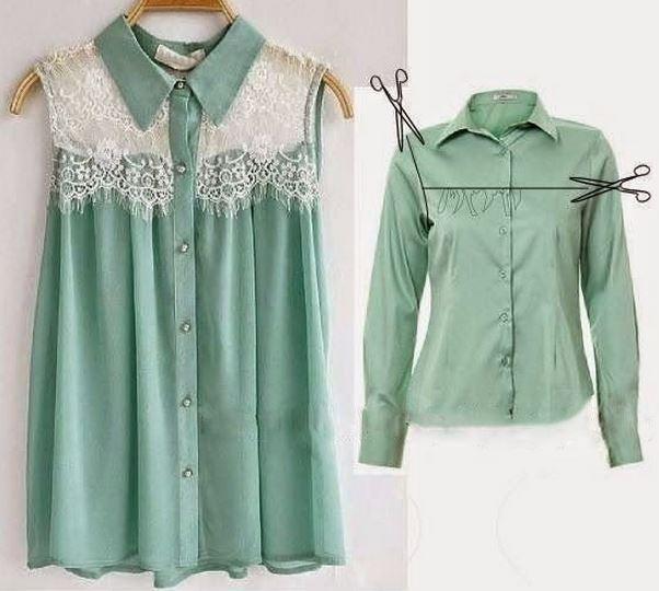 Как обновить старую блузку - Galaptop.ru