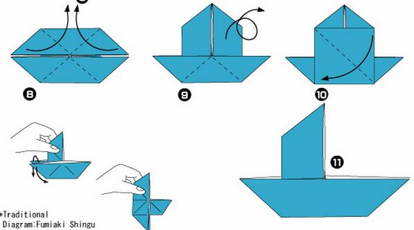 Как сделать кораблик из бумаги видео уроки