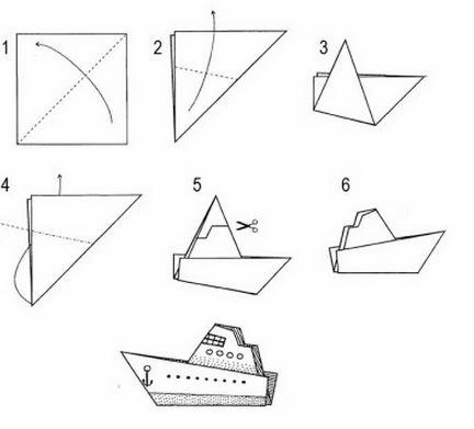 Кораблик из бумаги своими руками видео фото