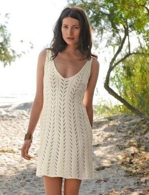 Пляжный легкий сарафан