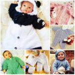 13 вязаных комбинезонов для новорожденного спицами
