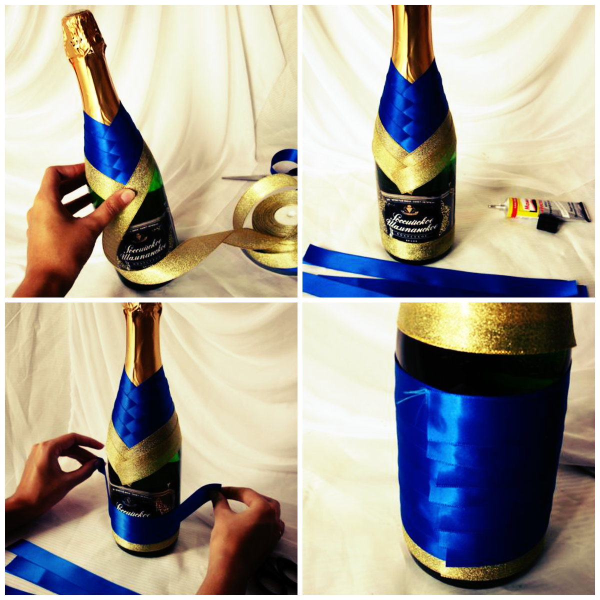 Украшаем бутылки своими руками пошаговая инструкция