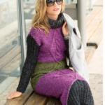 Платье «Фиолетовый+серый+зеленый», схема