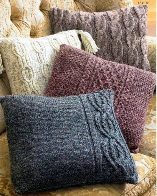 Вяжем диванные подушки
