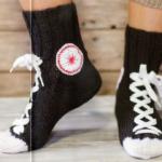 Мужские вязаные носки кеды