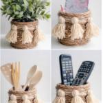 Мастер-класс: вазочка из бечевки