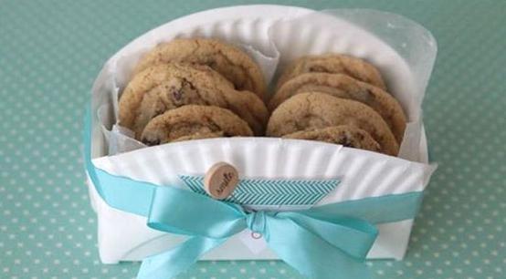 Коробочка для печенья из бумажной тарелки