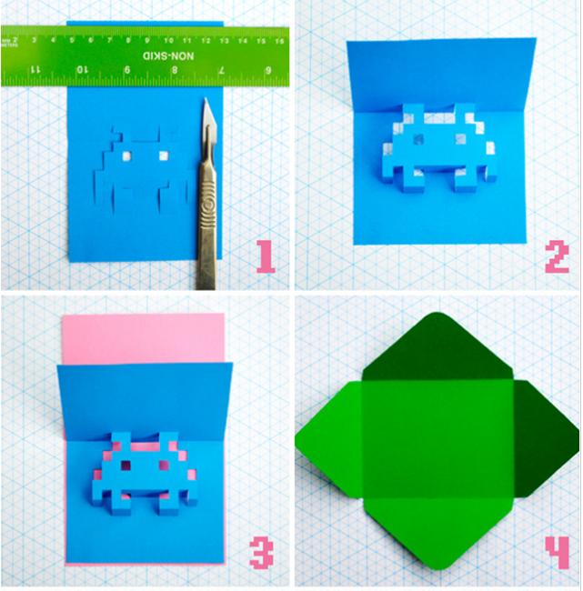 Как сделать открытки в виде рубашки