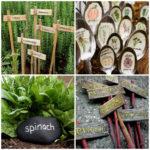 Таблички для огорода на грядки своими руками
