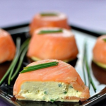 Закуска: лосось с сыром