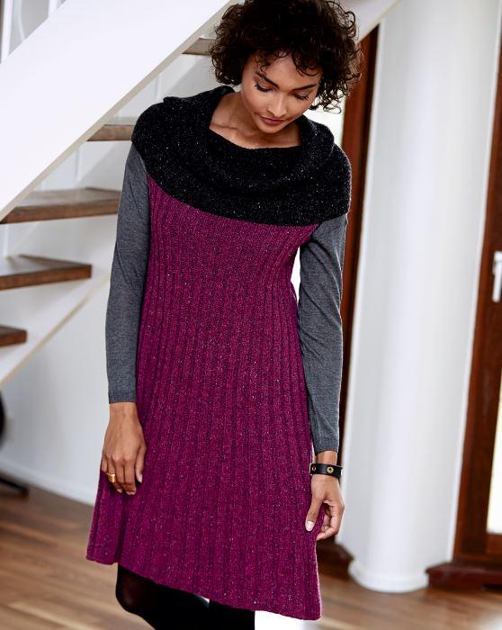 Платье с воротником трансформером