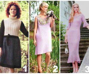 Вязаные платья спицами для женщин — 42 схемы с описанием