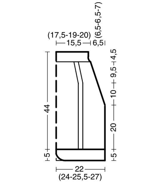 выкройка для вязания юбки карандаш