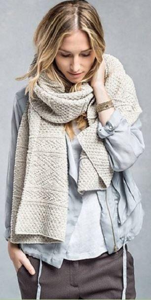 Как связать ажурный узор для шарфа спицами для начинающих