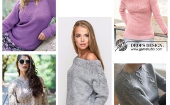 как связать свитер регланом