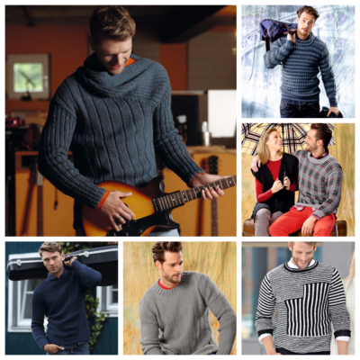 7 способов, как связать мужской свитер спицами