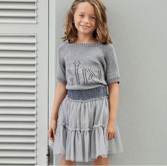 Джемпер девочке 7 лет спицами