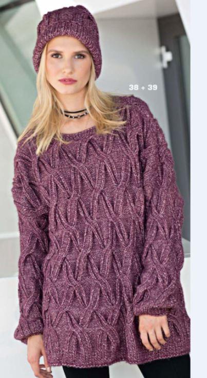 10 моделей вязаных свитеров оверсайз схемы вязания