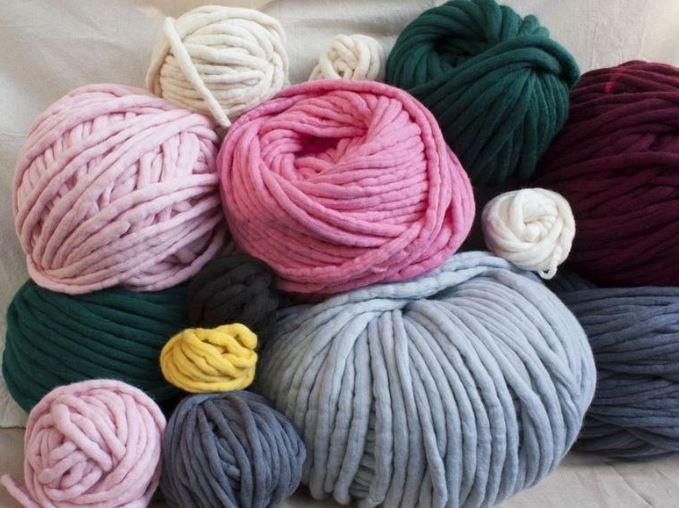 нитки для вязания мочалки