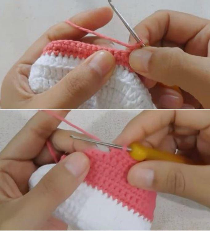 вязание детских кед схема