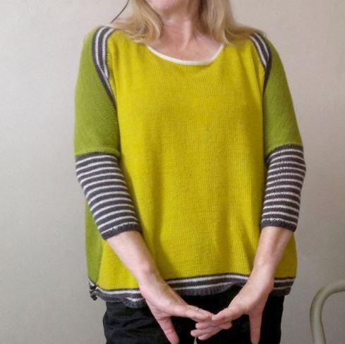 вязаный свитер оверсайз женский