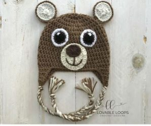 Bear Hat Crochet | Вязаная шапка Мишка