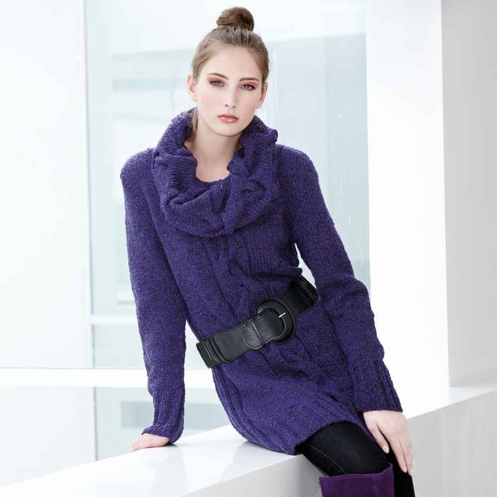 платье вязаное теплое для женщин схема