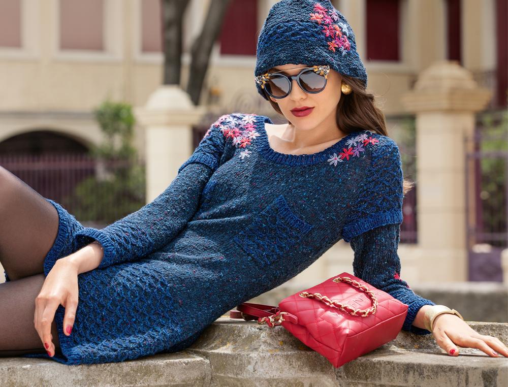 Теплые вязаные платья для женщин