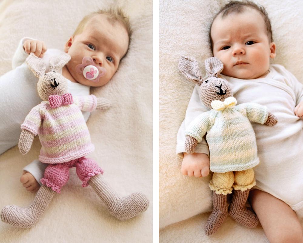 Вязаная игрушка заяц тильда спицами и крючком, схема