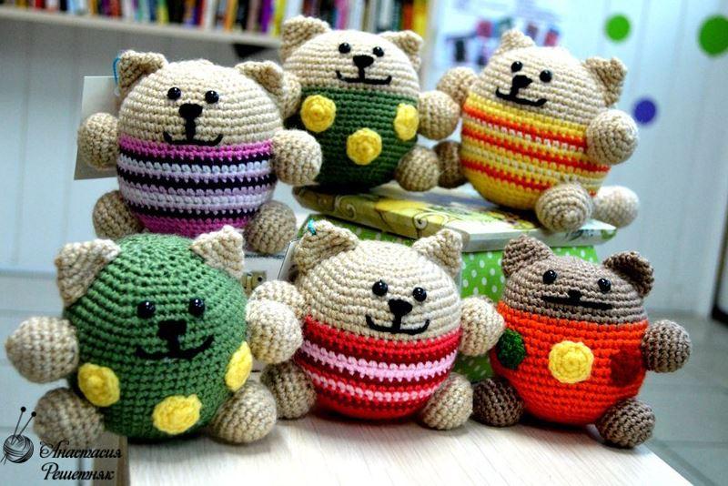 вязание кота амигуруми