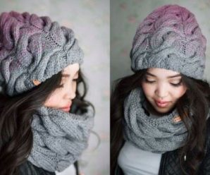 Схемы вязания женских шапок спицами