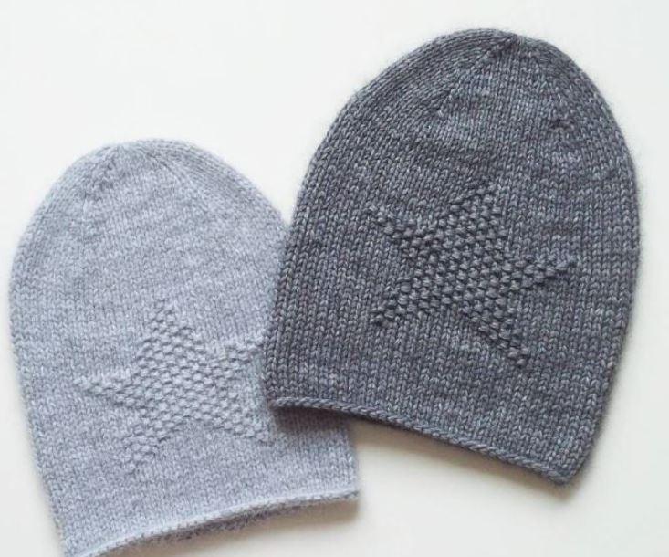 схема вязания женской шапки бини