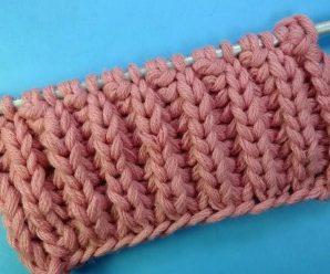 Резинка спицами — схема вязания резинок для начинающих