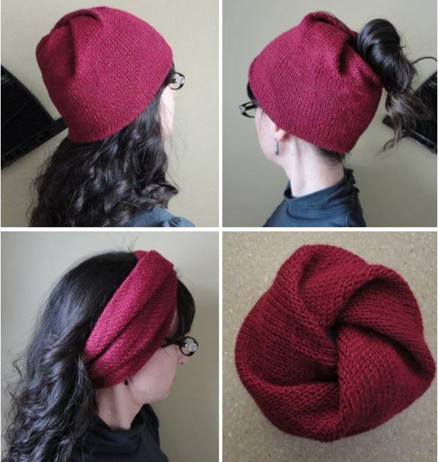 схема вязания шапки спицами для женщины