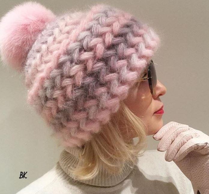 схемы вязания шапок для женщин