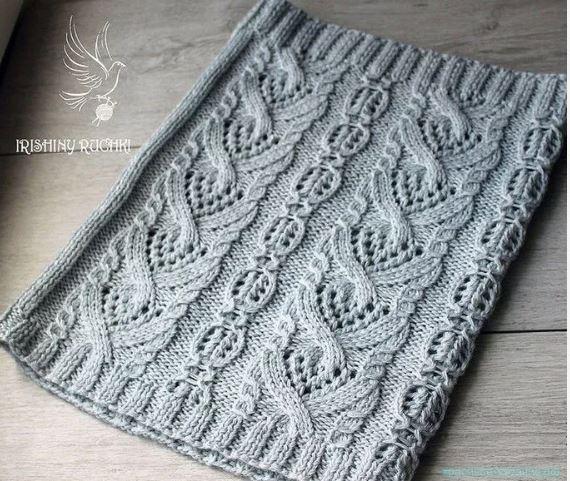 схемы вязания снудов
