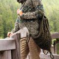 Вязаная сумка рюкзак, схема вязания с косами