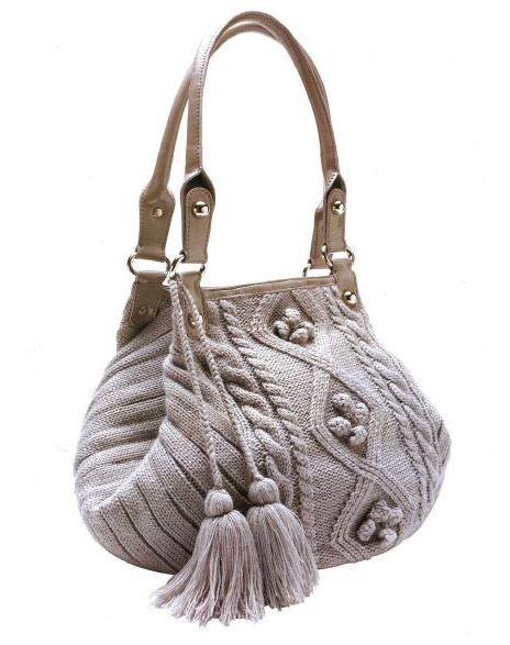 как связать красивую сумку