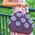 Вязаная сумка с цветами крючком, схема