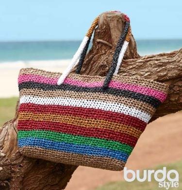 вязание пляжной сумки