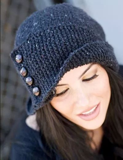 шапка спицами схема и описание