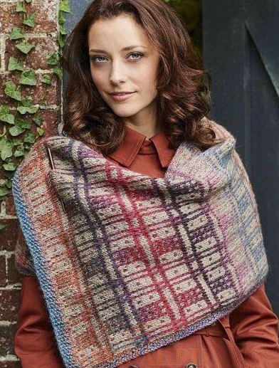 схема зимнего шарфа