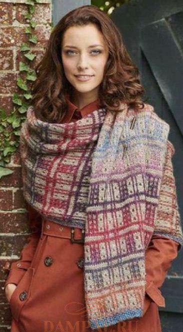 вязание зимнего шарфа