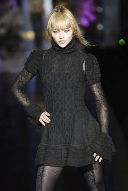 вязаные платья со спицами