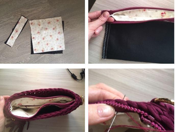как сделать подкладку для сумки