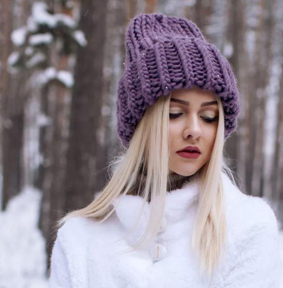 шапка с отворотом