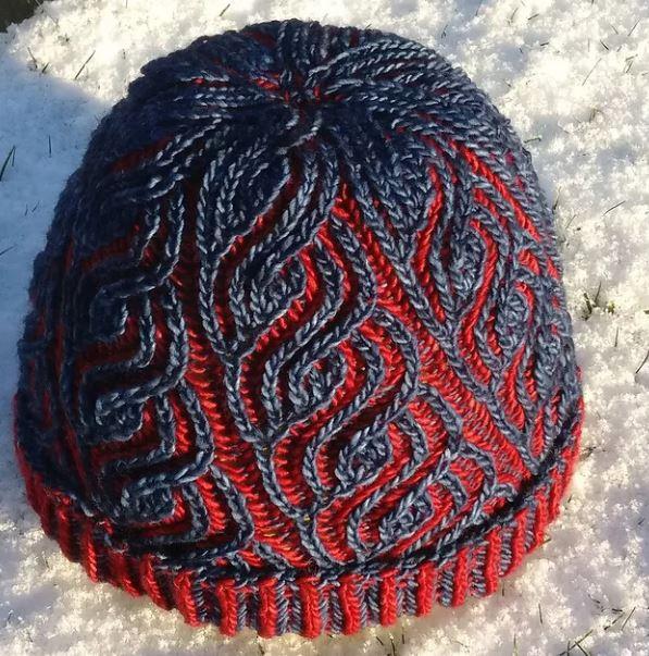схема вязания шапок бриошь