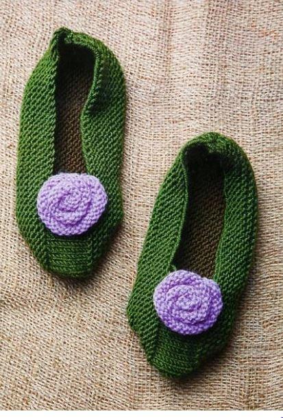 Схемы вязания тапочек